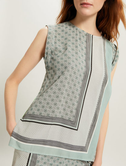 PENNY BLACK Panel top a stampa foulard