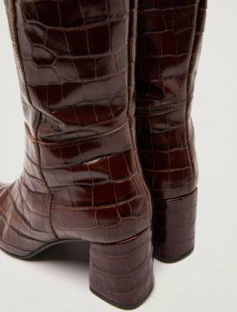 pennyblack Stivali in pelle a stampa cocco articolo seguace