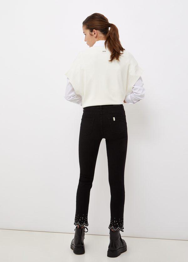 Liu jo Jeans skinny con castoni gioiello UF1035D465187280