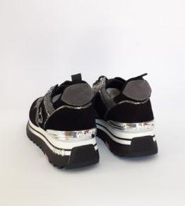 LIUJO Sneakers Platform In Suede E Lurex BF0069TX085
